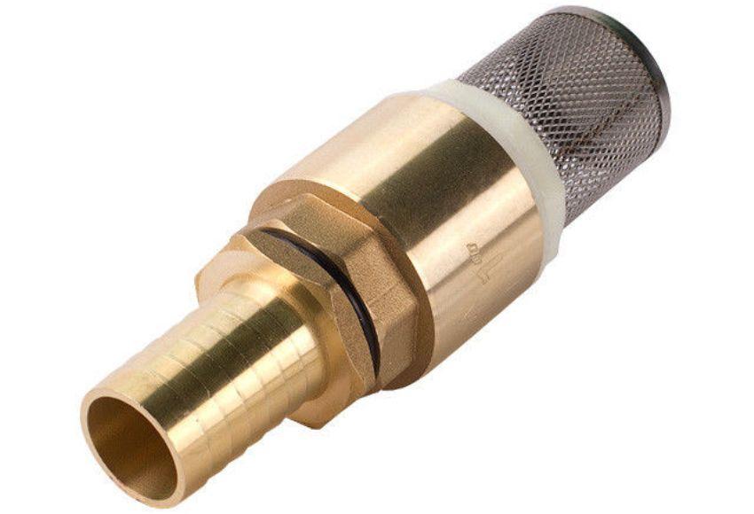 Обратный клапан с сетчатым фильтром для насосной станции