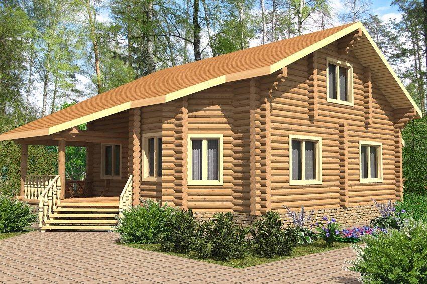 3D-проект простого, но в то же время комфортного дома в два этажа