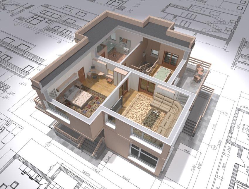 Двухэтажный коттедж - оптимальный вариант для большой семьи