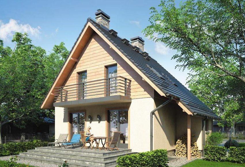 Проект 6. Фасад двухэтажного дома 10х10 м
