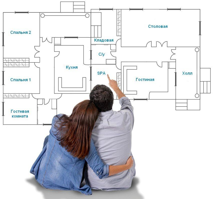 После внесения в планировку обязательных помещений может остаться свободная площадь, которую можно использовать для организации дополнительных комнат