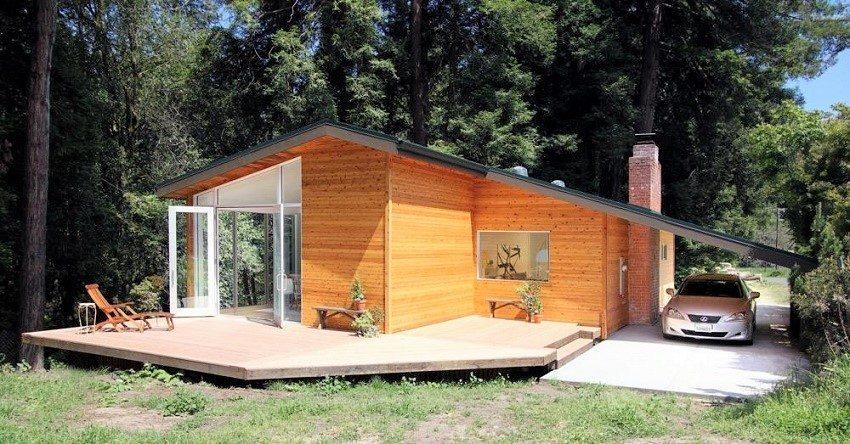 Компактный и уютный дом для отдыха