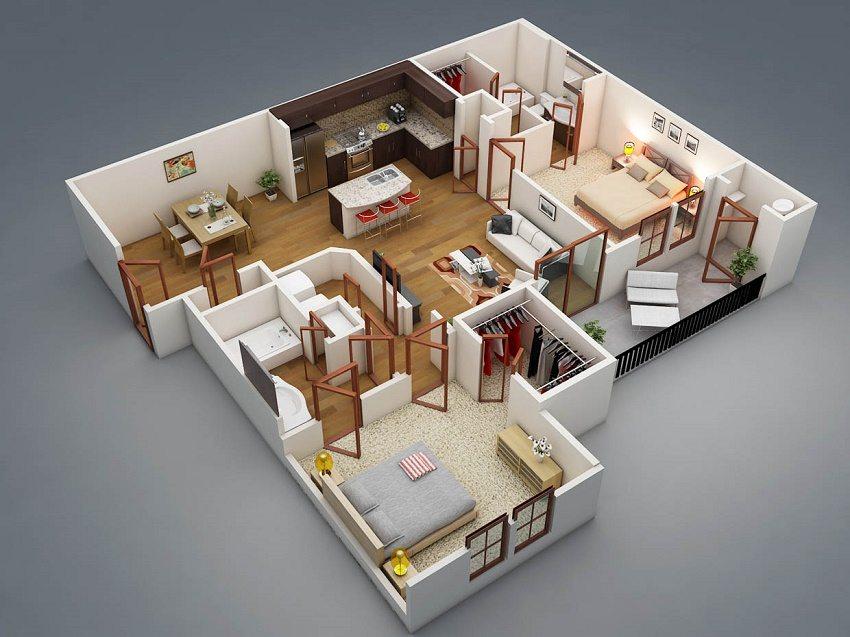 Правильное расположение помещений в доме позволит эффективно использовать пространство