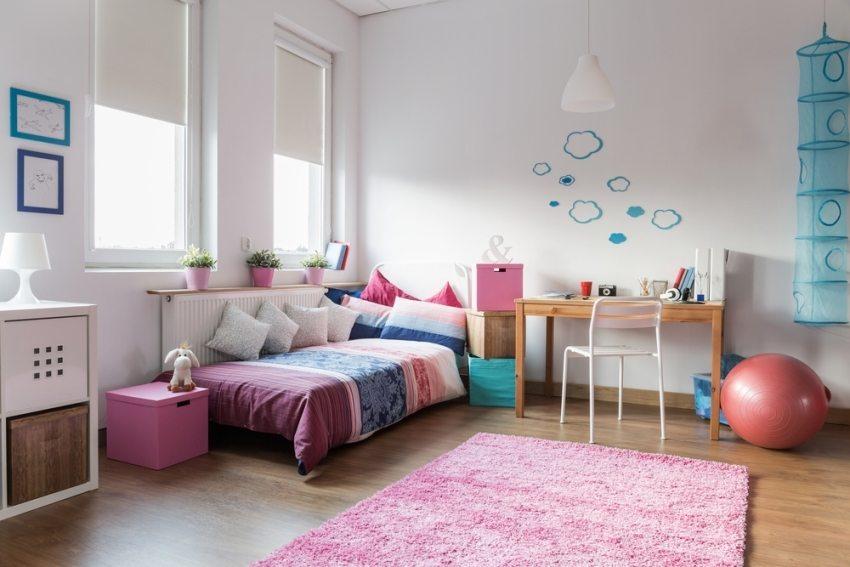 Лаконичный дизайн детской комнаты для девочки
