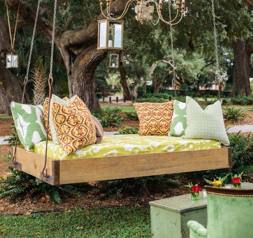 Качели-кровать, изготовленные своими руками