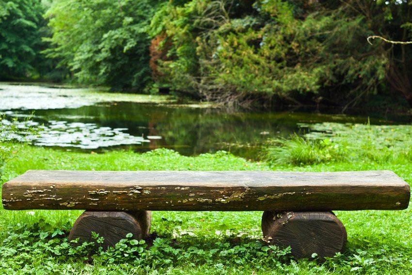 Для создания скамейки из поваленного дерева необходима бензопила