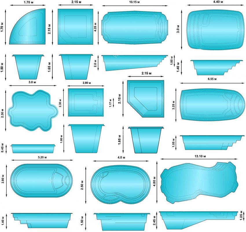 Различные варианты форм и размеров пластиковой чаши
