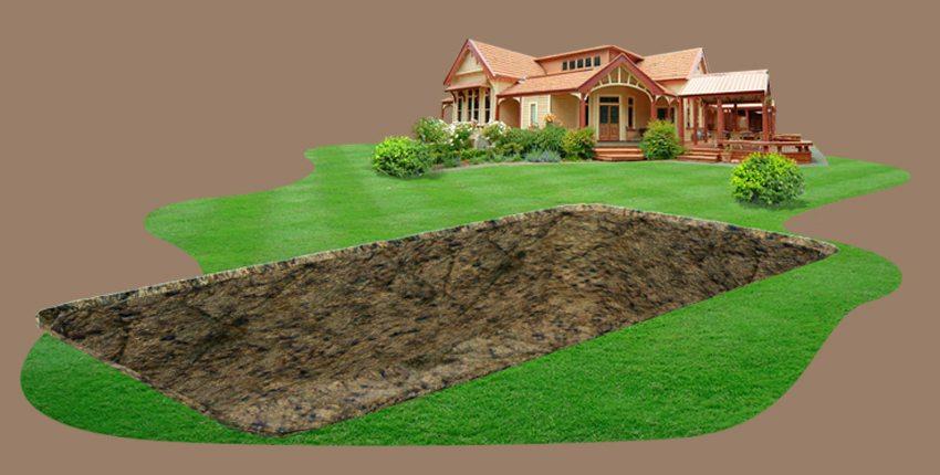 Шаг 1. Прежде всего, необходимо определить место под бассейн и выкопать котлован соответствующего размера