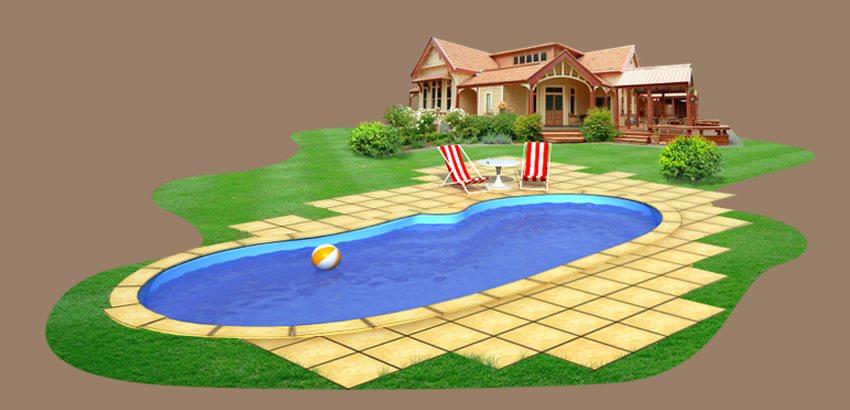 Шаг 7. После застывания раствора бассейн можно заполнять водой и купаться