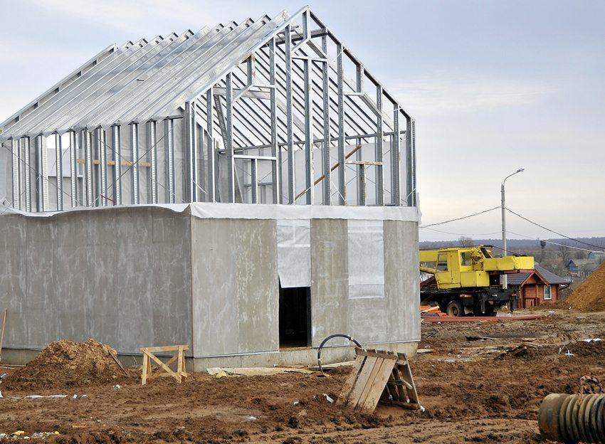 ЦСП является конструкционным материалом, придающим каркасным конструкциям жесткость