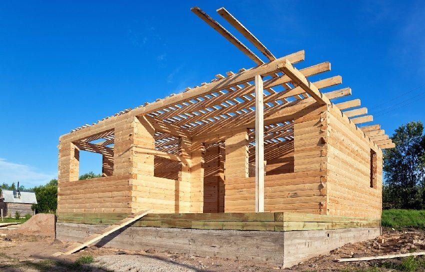 Строительство одноэтажного дома из деревянного бруса