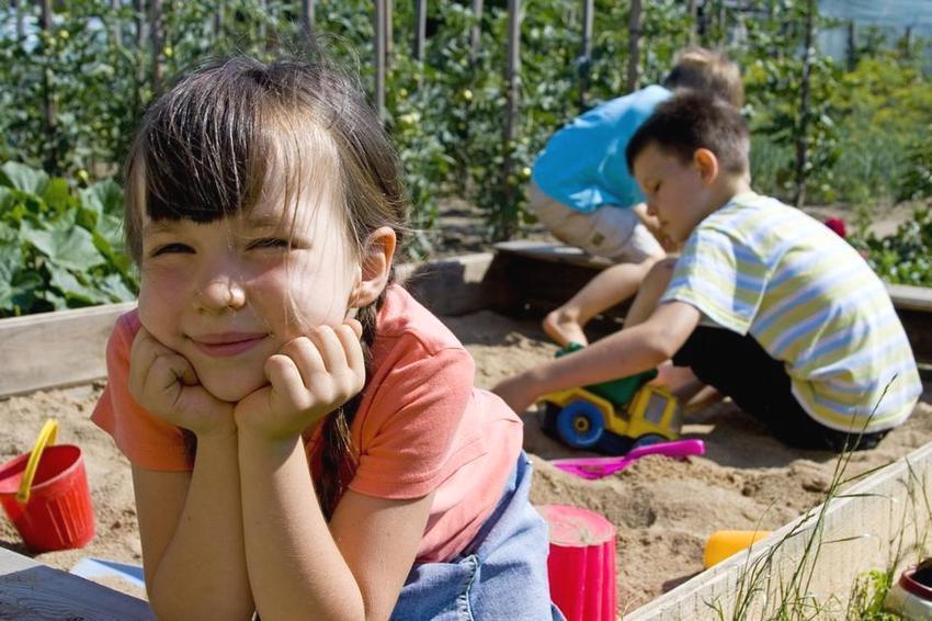 Дерево – самый экологичный материал для строительства песочницы и других элементов детской площадки