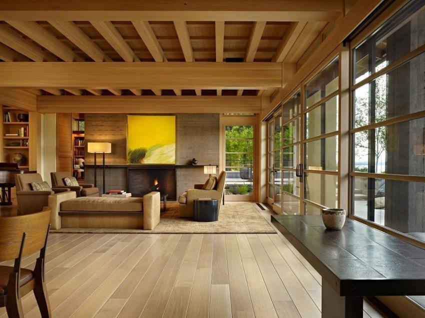 Дом из клееного бруса экологически безопасный