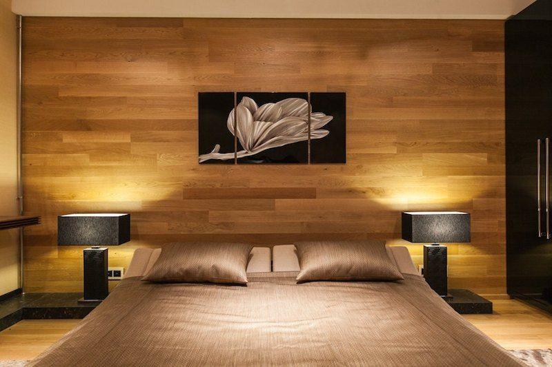 фото декора ламинат на стенах