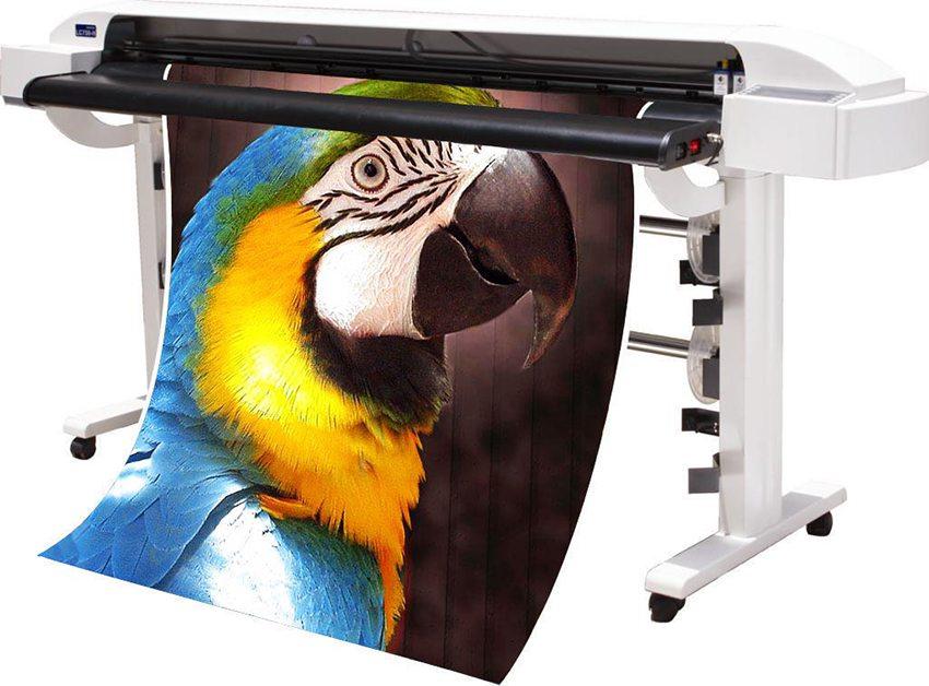 Печать изображения на баннерной ткани