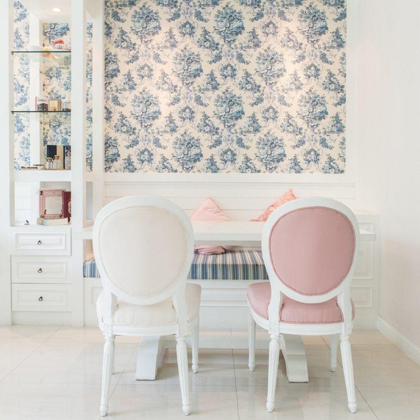 Грамотное сочетание цвета обоев и мебели