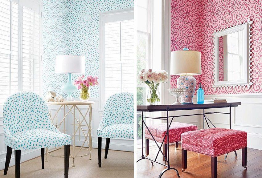 Обои и мебель должны сочетаться и подчеркивать достоинства друг друга