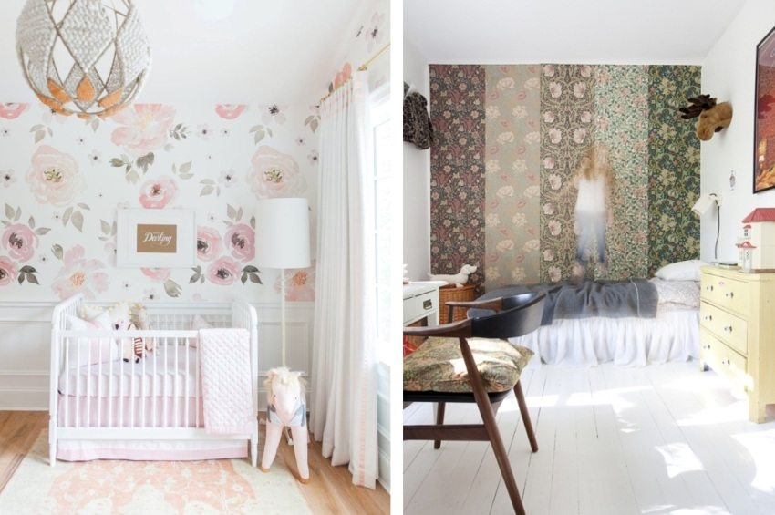 Удачные примеры оформления стен в комнате девочки