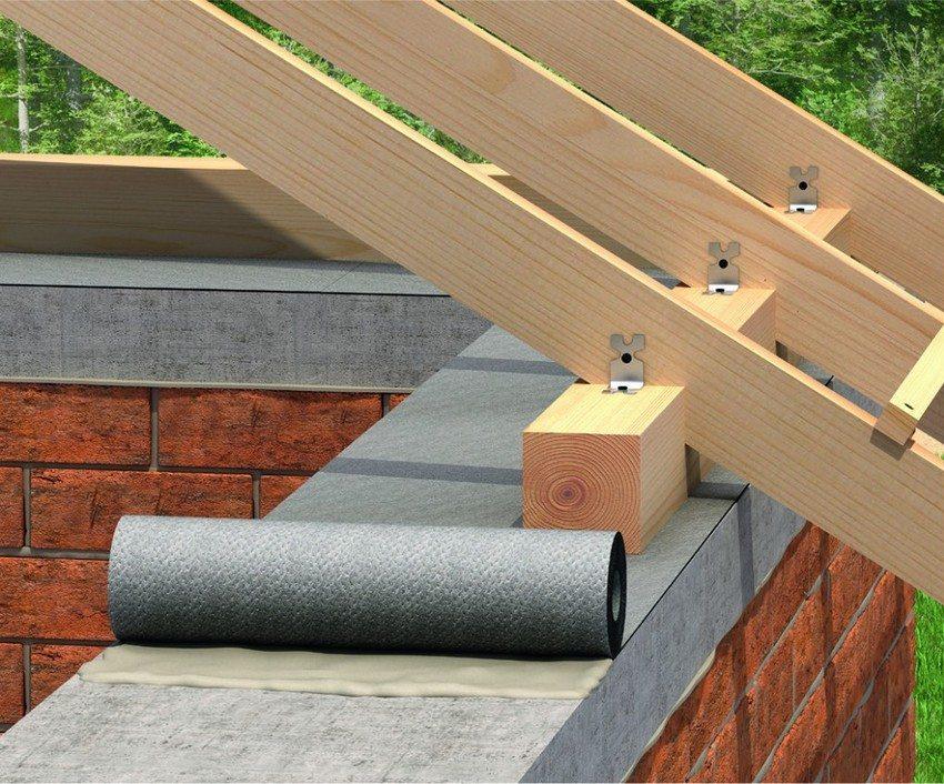 Строительство односкатной крыши своими руками. Шаг 2: монтаж мауэрлата