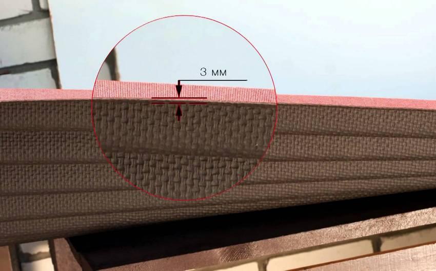 Лист ондулина в толщину составляет всего 3 мм, при этом обладая отличными эксплуатационными качествами