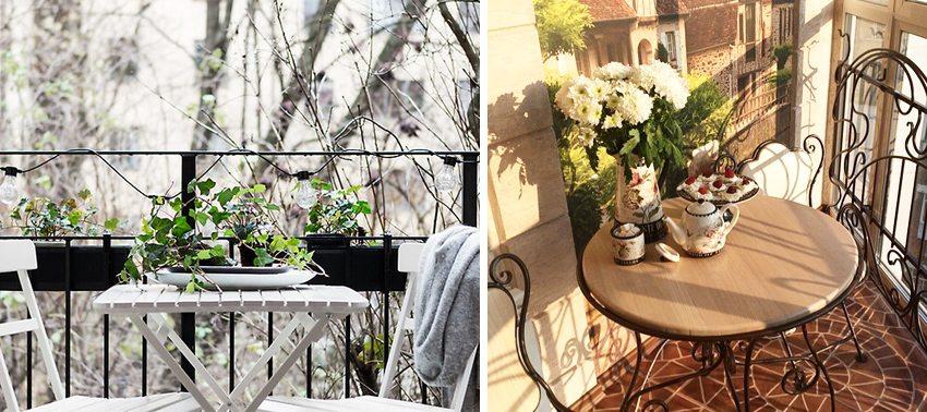 Небольшой столик и стулья создадут уютную атмосферу для приятного времяпровождения