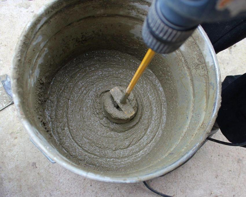 Процесс приготовления бетонного раствора