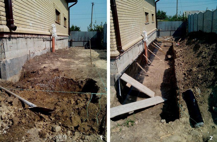 Пошаговая инструкция для строительства бетонной отмостки вокруг дома. Шаг 1: разметка и подготовка территории. Шаг 2: выкапывание траншеи, изоляция фундамента рубероидом
