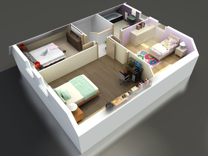 Планировка мансардного этажа в частном доме