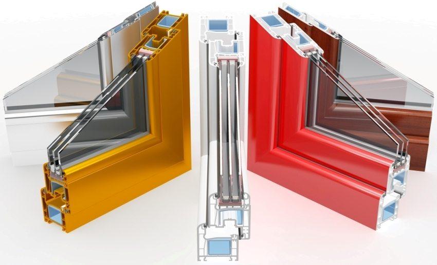 Металлопластиковый профиль может иметь от 3 до 8 воздушных камер