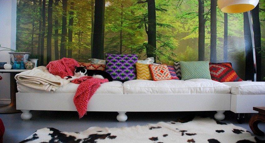 Трехмерные обои с изображением деревьев отлично подойдут для любителей природы