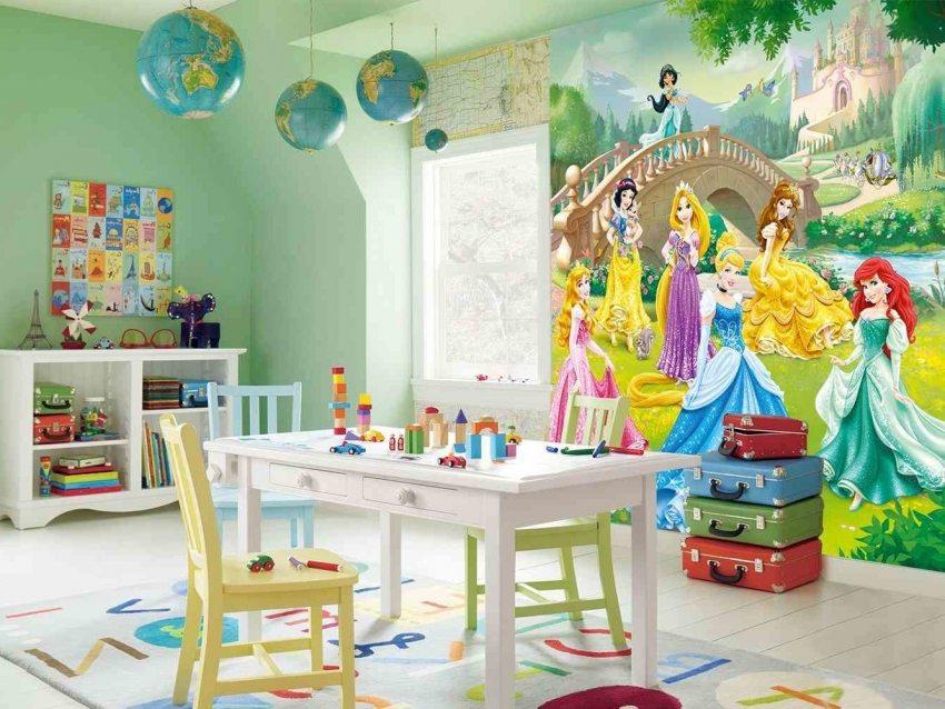 Детские фотообои с изображением героев мультфильмов