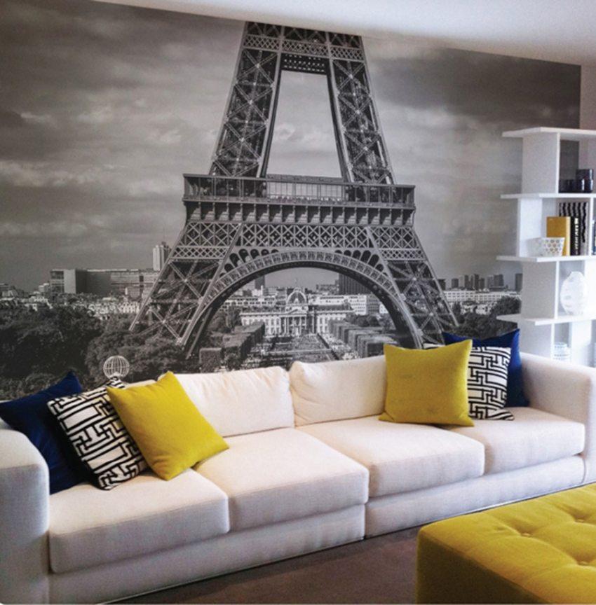 Изображение Эйфелевой башни привнесет в интерьер особый французский шик
