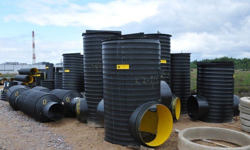 Сварные пластиковые колодцы для водопровода и канализации