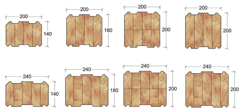 Стандартные размеры бруса