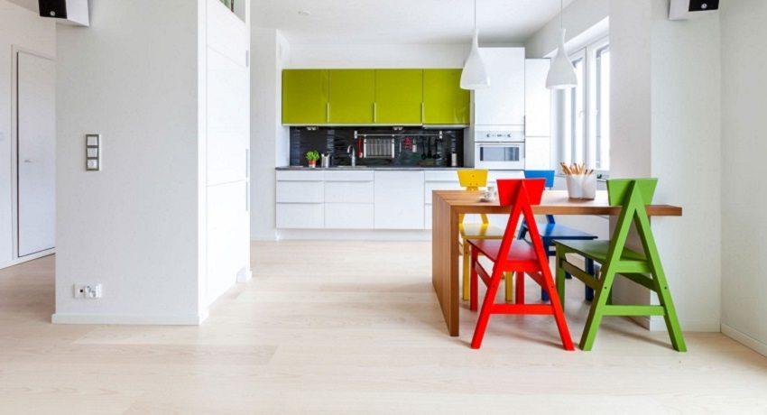 Ламинат в интерьере квартиры: фото ярких примеров оформления комнат