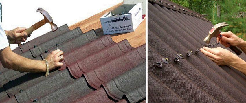 Для монтажа ондувиллы и ондулина выпускаются специальные комплектующие