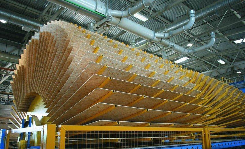 Процесс сушки сформированных ОСП плит