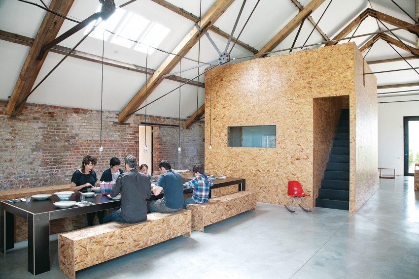Применение плит ОСП в современном дизайне интерьера