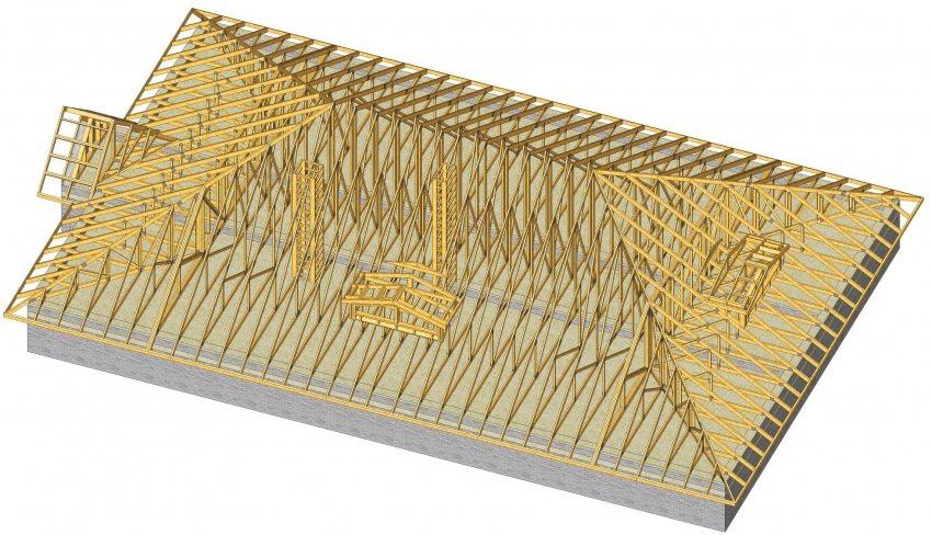 Проектирование крыши вальмовой конструкции