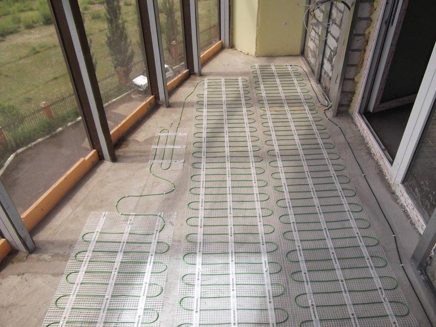 Нагревательный мат для системы теплого пола на балконе