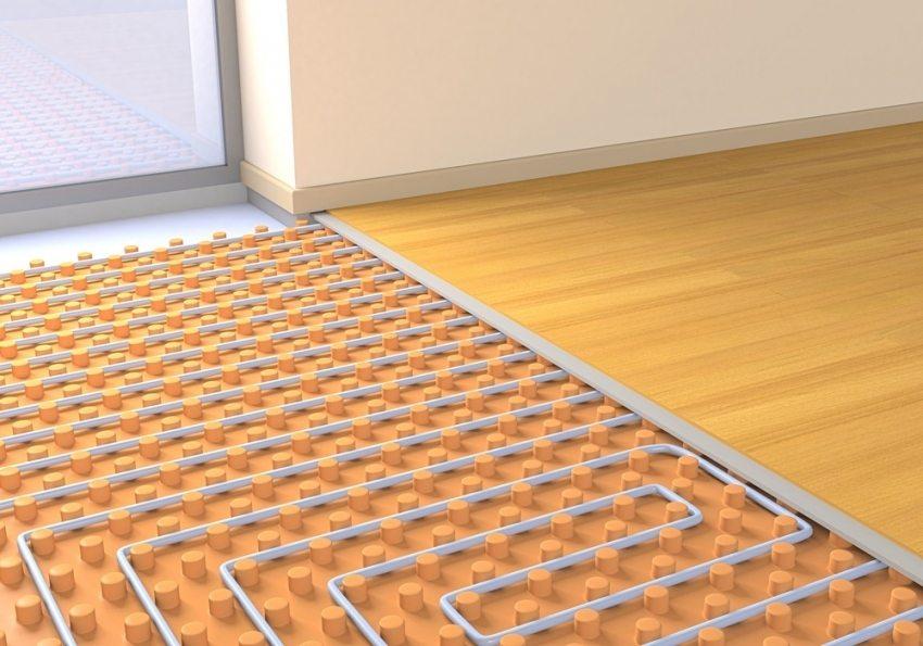 3D-визуализация системы теплого пола под ламинат