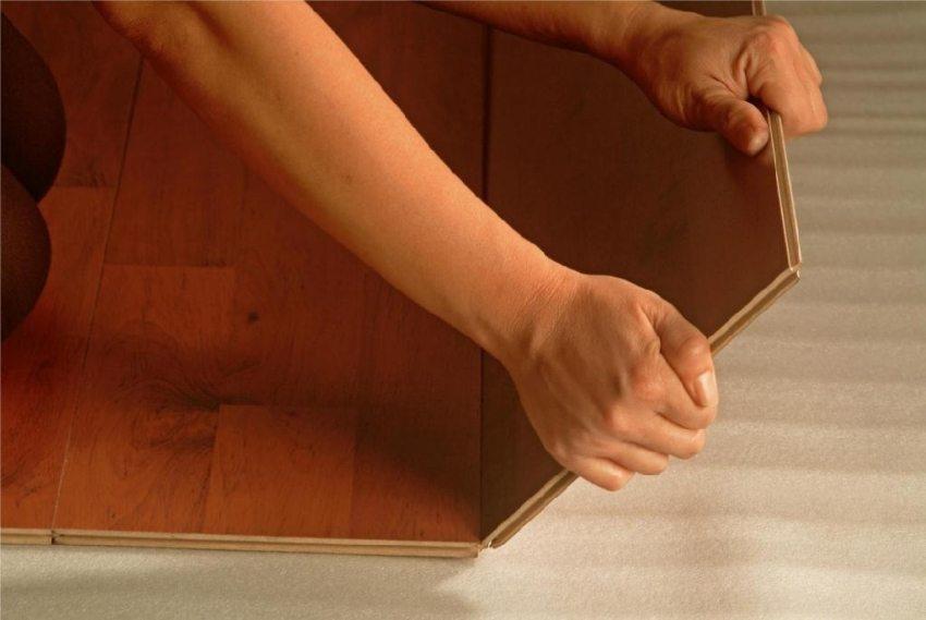 Укладка ламината на бетонный пол с полиэтиленовой подложкой