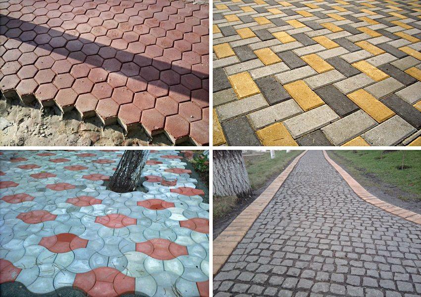 Варианты оформления тротуарной зоны плиткой