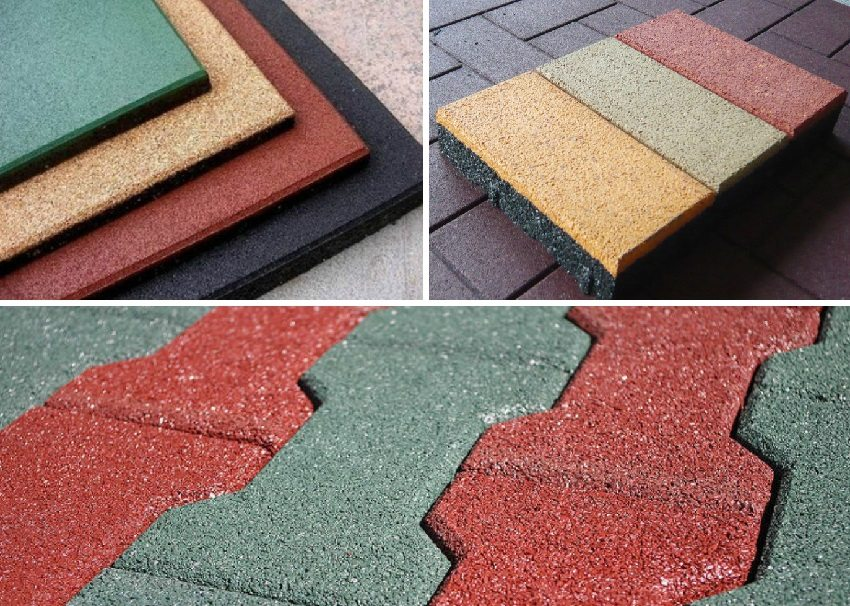 Цветовая гамма резиновой тротуарной плитки
