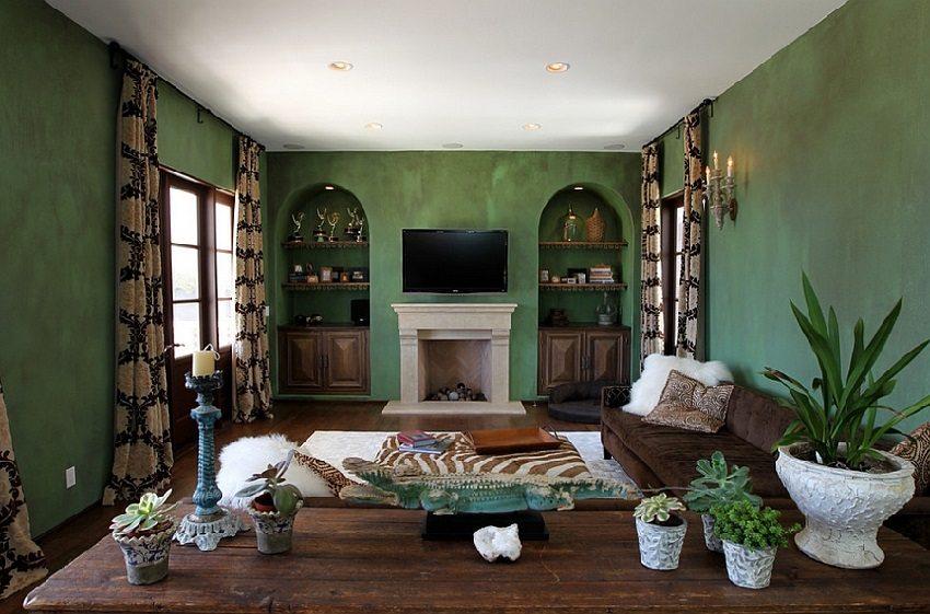 Сегодня дизайнеры предлагают множество способов необычного декора стен