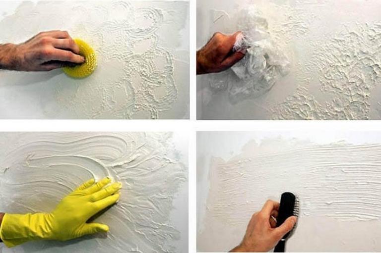 Как сделать фактурной штукатурка своими руками