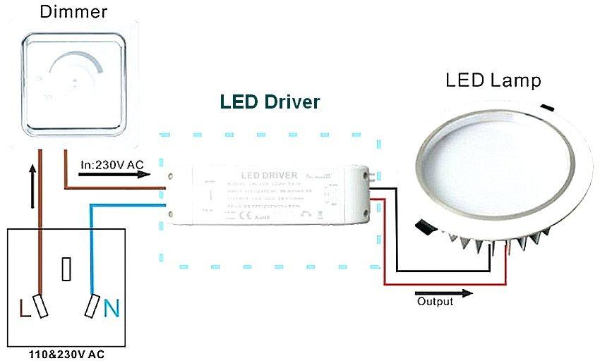 Схема подключения диммера для светильника со светодиодной лампой