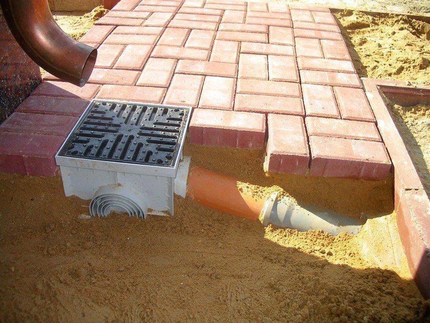 Пример устройства ливневой канализации