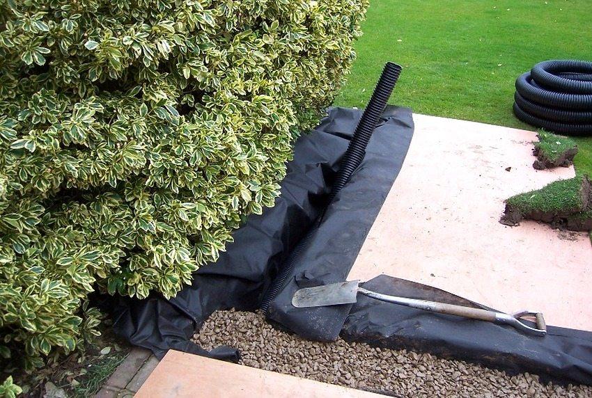 Дренажная система поможет справиться с избытком влаги на садовом участке
