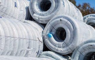 Дренажная труба 110 в фильтре: геотекстиль и кокосовое волокно